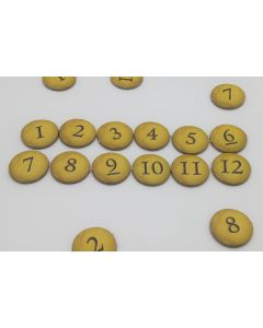 Number markers 10-12