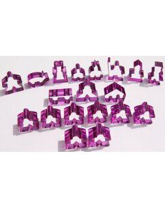 Carcassonne transparente Meeples - Komplettset