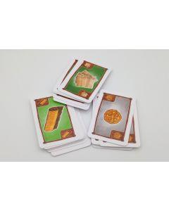 Kartensatz Rohstoffe (passend Siedler Städte und Ritter 3-4 Spieler)