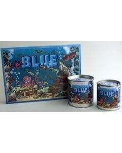 BLUE in metal box