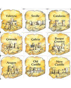 El Grande: Regionenkarten (DEU)