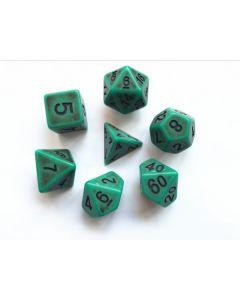 Green Ancient dice set