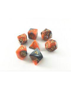 Blend color dice set grey-orange