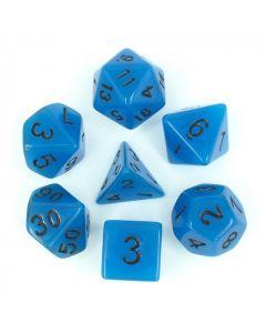 Set glow in the dark dice blue