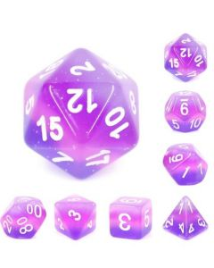 Set Purple transparent layer dice