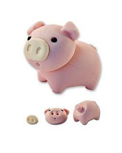Puzzle Radierer Schwein