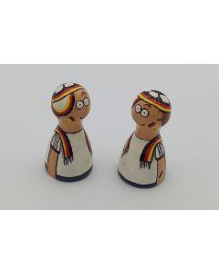 Handbemalte Pöppel - Fussball Fan