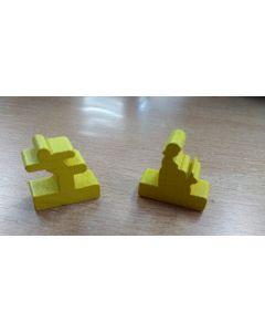 Set Figuren von Flussläufer Gelb (stehend, sitzend je ca 300 Stk) - Auktion, Startpreis 50 EUR