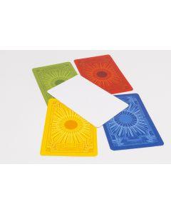 Set Spielkarten blanko, Rückseite mit buntem Muster 40 Stück