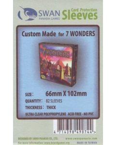 Kartenhüllen (Sleeves) für Spielkartenkarten 65x100 mm 85 Stück (7 Wonders)