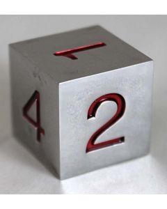 Metal dice D6 20mm rrd numbers