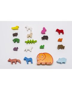 Individual game pieces