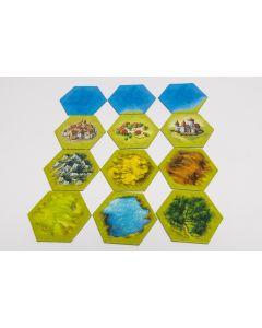 Landschaftsfelder hexagonal