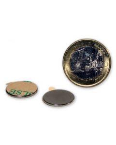 Magnetic disc, self-adh. Ø 15,0 x 1,0 mm Neodym