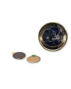 Magnetic disc, self-adh. Ø 10,0 x 0,6 mm Neodym