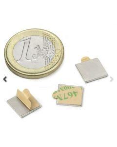 Magnetic square, self-adh. Ø 10 x 10 mm Neodym