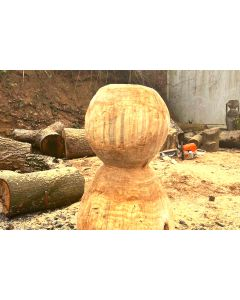 Handmade meeple from solid wood
