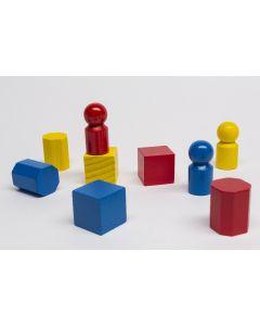 Set Spielfiguren aus Holz
