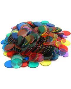 Set ca. 250 transparente Spielchips für Micro Macro
