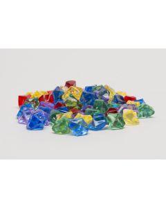 Set 75 Kristallsteine / Edelsteine in 5 Farben