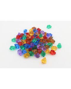 Set 84 Kristallsteine / Edelsteine in 6 Farben