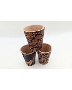 Design leather dice cup
