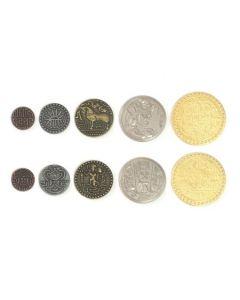 Set  Metallmünzen Indien