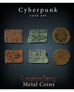 Set Metallmünzen groß Cyberpunk
