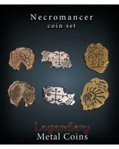 Set Metallmünzen groß Nekromant