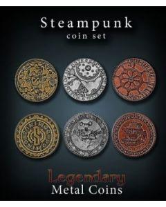 Set Metallmünzen groß Steam Punk