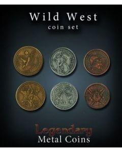 Set Metallmünzen groß Wilder Westen