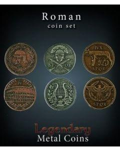 Set Metallmünzen groß Rom