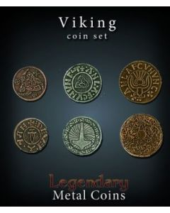 Set Metallmünzen groß Wikinger