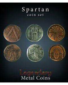 Set Metallmünzen groß Sparta