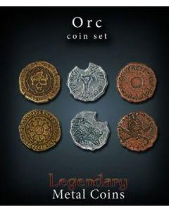 Set Metallmünzen groß Orks