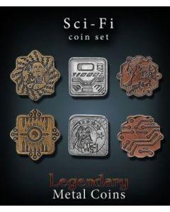 Set Metallmünzen groß Sci-Fi