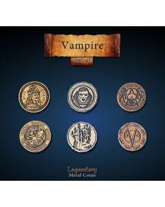 Set Metallmünzen groß Vampire