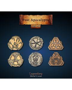 Set Metallmünzen groß Postapocalyse