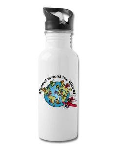 Trinkflasche mit integriertem Trinkhalm - Pöppel around the world
