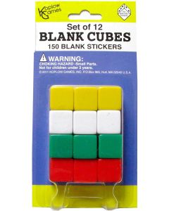 Set 6-sided blank dice with stickers