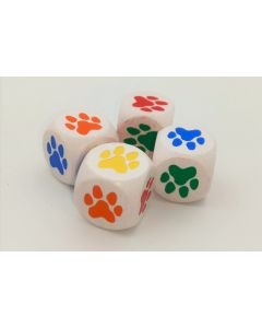 Set color dice with paws