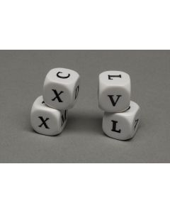 Dice with Roman numbers V - M