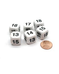 Math dice number dice 13-18