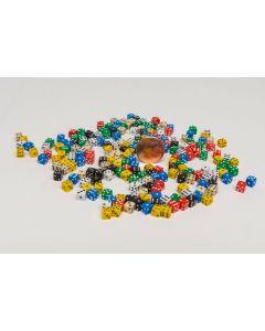 Set Miniature dice approx. 200 pieces