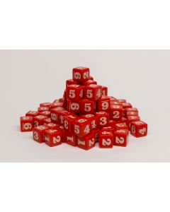 100 Number dice red