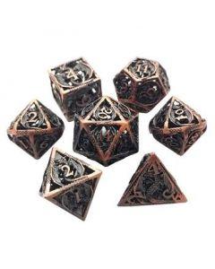 Set Metallwürfel Dragon hollow dice