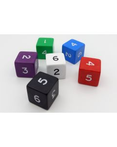 6-sided dice (numbers) 25mm